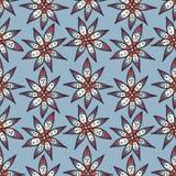 Blom- sömlös blom- modell i klotterstil Royaltyfri Bild