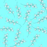 Blom- sömlös modell i pastell Illustration för färgbladvektor stock illustrationer