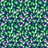 Blom- sömlös modell med det lösa bäret och filialen Arkivfoto