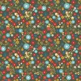 Blom- sömlös modell med färgrik blommatextur Fotografering för Bildbyråer