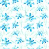 Blom- sömlös modell med tusenskönablommor Arkivbilder