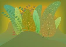 Blom- sömlös modell som göras med tropiska växter för färgrika sidor vektor illustrationer