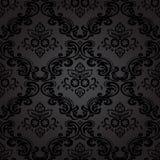 Blom- sömlös modellbakgrund för damast tappning. Royaltyfria Bilder