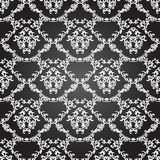 Blom- sömlös modellbakgrund för damast tappning. Arkivbild