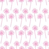 Blom- sömlös modellbakgrund för vektor playnig för bakgrundsblommalampa klottra sömlös textur med blommor wallpaper royaltyfri illustrationer