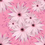 Blom- sömlös oändlig bakgrund Vit-lilor blommor för design och printing Bakgrund av naturliga blommor Royaltyfri Fotografi