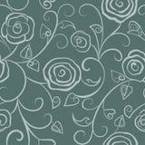 Blom- sömlösa grå färger Royaltyfri Bild