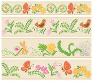 Blom- sömlösa prydnader Arkivfoto