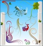blom- samling vektor illustrationer