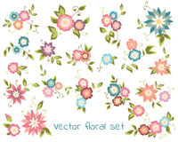 Blom- samling för vektor Royaltyfri Foto