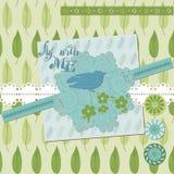 Blom- Scrapbookdesignelement Royaltyfria Bilder