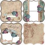 blom- scrapbooktappning för bakgrund royaltyfri illustrationer