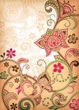 blom- scroll Royaltyfri Fotografi