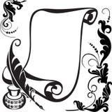 blom- scroll royaltyfri illustrationer