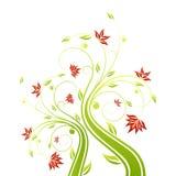 blom- scroll stock illustrationer