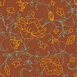 blom- seamless Royaltyfria Bilder