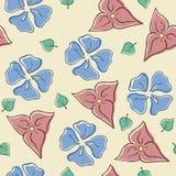 blom- seamless vektor illustrationer