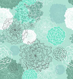 blom- seamless anbud för bakgrund Royaltyfri Fotografi