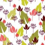 Blom- seamless bakgrund Arkivfoto