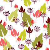 Blom- seamless bakgrund vektor illustrationer