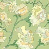 Blom- seamless bakgrund från blommor Royaltyfria Bilder