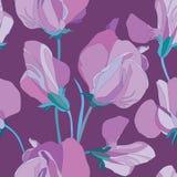 Blom- seamless bakgrund från blommor Arkivbild