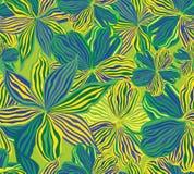 Blom- seamless bakgrund, gulingblommor. Arkivbild