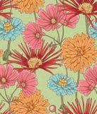 blom- seamless för bacground vektor illustrationer