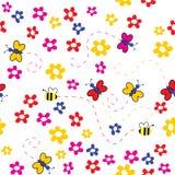 blom- seamless för bakgrund Royaltyfri Fotografi