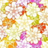 blom- seamless för bakgrund Arkivbild