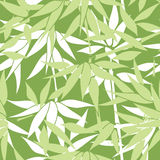 blom- seamless för bakgrund Bambubladmodell blom- seamless Royaltyfri Fotografi