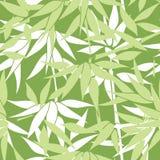 blom- seamless för bakgrund Bambubladmodell blom- seamless Arkivfoto