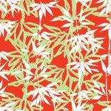 blom- seamless för bakgrund Bambubladmodell plantera textur Royaltyfri Fotografi