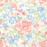 blom- seamless för bakgrund bukettbows figure seamless litet för blommamodell Royaltyfri Fotografi