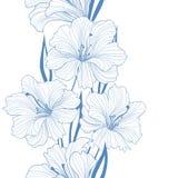 blom- seamless för bakgrund bukettbows figure seamless litet för blommamodell border blommor Arkivbild