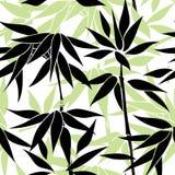 blom- seamless för bakgrund Leavespattern Bambo Arkivbilder
