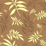 blom- seamless för bakgrundskaffe royaltyfri illustrationer