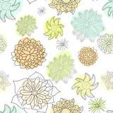 Blom- seamless mönstrar Royaltyfria Foton