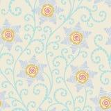 Blom- seamless mönstrar Arkivfoto