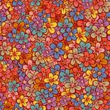 Blom- seamless mönstrar Arkivbilder