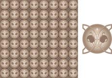 blom- seamless secessionwallpaper royaltyfri bild
