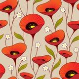 blom- seamless tappning för bakgrund Royaltyfri Fotografi