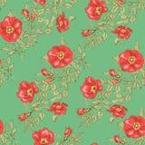 Blom- seamless tappning mönstrar Royaltyfri Fotografi