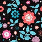 blom- seamless textur för colorfull Royaltyfri Fotografi