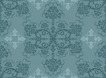 blom- seamless turkoswallpaper Royaltyfri Foto