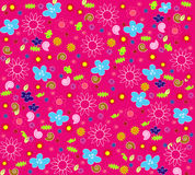 blom- seamless wallpaper Arkivfoto