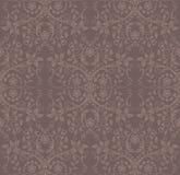 blom- seamless wallpaper för kakao Arkivbild