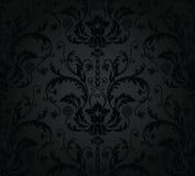 blom- seamless wallpaper för kol Arkivbild