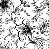 Blom- seFloral sömlös modell Abstrakt utsmyckad blommatappningtextur Dekorativ dekorativ textil, tapet som slår in vektor illustrationer