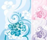 blom- serie för bakgrund Arkivbild